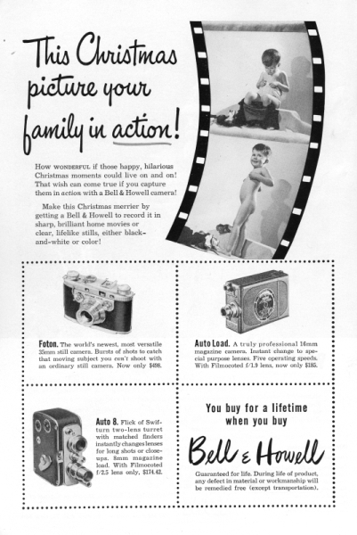 1949 Bell Howell ad
